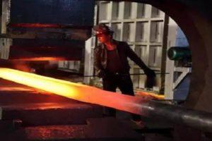 NiMonic80A 150mm square billet smelting