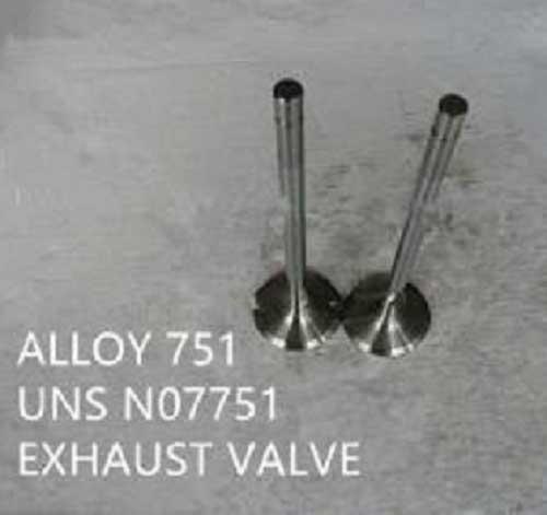 Inconel 751 exhaust valve