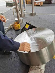 6AL4V disc from HY-Industry inspect