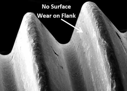 stainless steel fastener bolt surface