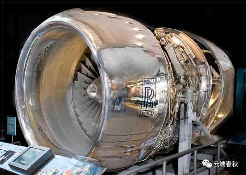 1969 Rolls-Royce RB211 three-rotor turbofan engine