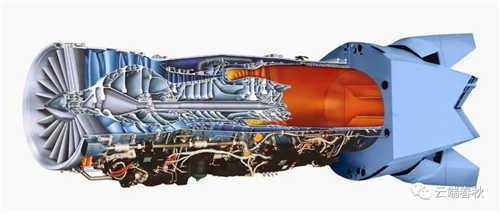 1990s Pratt & Whitney F119 turbofan engine