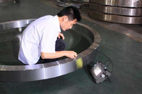 Ultrasonic testing for forging