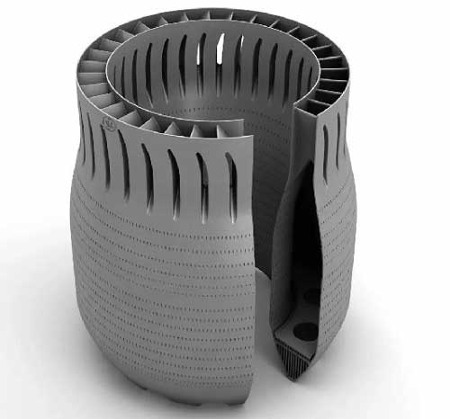Inconel 718 engine combustion chamber liner print by 3D printing material
