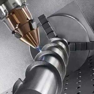 Laser cladding repair screw