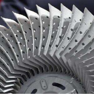 Powdered superalloy turbine disc