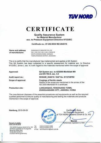 PED-Certificate